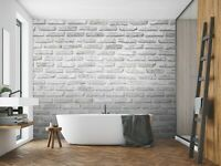 3D Bathroom Brick Wall R353 Wallpaper Wall Mural Self-adhesive Commerce Amy