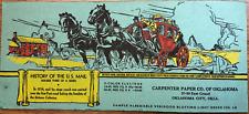 Vintage U.S. Mail History Green Blotter Postcard Carpenter Paper Co Of Oklahoma