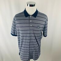 Vintage Polo Golf Ralph Lauren Gray Striped Golf Polo Shirt Mens XL X-Large