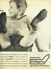 Publicité Advertising 089  1961  chaussettes enfant Collégien