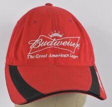 Red Budweiser Beer Co Logo Embroidered Baseball hat cap Adjustable Strap fb5271d064b9
