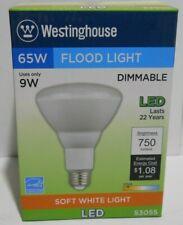 Lot of 2 New 9W BR30 LED Bulbs Dimmable 2700K E26 Medium Base, 120V Flood Lights