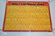 "Vintage rare 29"" x 20"" Michael H. Stein Nanchaku Kata Original Poster 1978"
