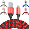 2 Pack 6Ft Lightning Cable iPhone X 8 7 6 5 USB Charger Heavy Duty Charging Cord