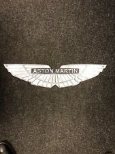 More details for aston martin sign large cast aluminium dealership sign silver best quality