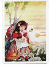 G-11 swap playing card MINT cond RETRO STYLE PRETTY GIRL WITH PUPPY