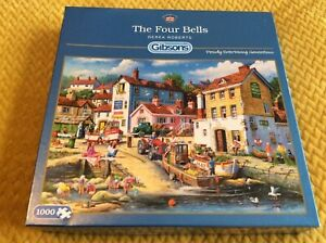 Gibsons 1000  Piece Jigsaw Puzzle The Four Bells By Derek Roberts vgc excellent