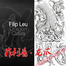 2018 New 190p Filip Leu Dragon Claw Tattoo Designs Sketch Flash Book Tattoo Book