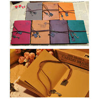 Retro Classic Vintage Leather Bound Blank Pages Journal Diary Notebook 1Pcs EB