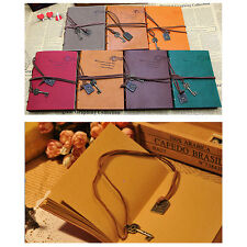 Retro Classic Vintage Leather Bound Blank Pages Journal Diary Notebook 1Pcs WK