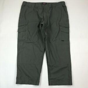 Tru-SPec Men Green Canvas Cargo Tactical Pants sz 48x28
