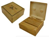 Shine, Grassleaf, Raw Wooden box with compartments Roll Smoking Box