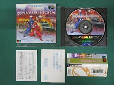 Mega CD -- Ninja Warriors -- spine & postcard & caution sheet. JAPAN GAME. 13334
