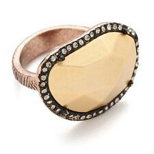 NWT HOUSE OF HARLOW 1960 Horizontal Sahara Sand Ring Rose Gold Plated Size 5