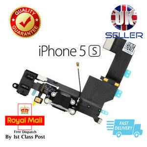 New Black Replacement Charging Dock Port Connector, Flex Cable For iPhone 5S