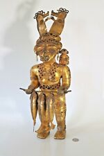 Rare Original Colombian Gold Copper Tairona Tumbaga Large Fisher Woman