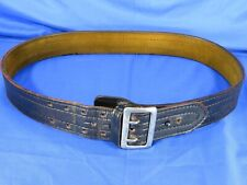 Safariland Black Heavythick Leather Police Duty Belt Easy On Buckle Lined Sz 42