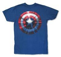 Avengers Captain America Blue T Shirt New Official Adult