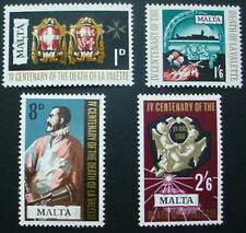 1968 MALTA: QE II: 4th DEATH CENTENARY OF VALETTE:  SET OF 4 MNH STAMPS