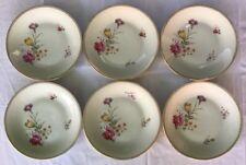 Lot1: 6 Assiettes En Porcelaine De Sologne Maison Lamotte D 23,5 Cm