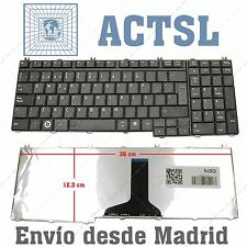 KEYBOARD SPANISH BLACK HALF GLOSSY TOSHIBA Satellite L550D-10M L550 L500