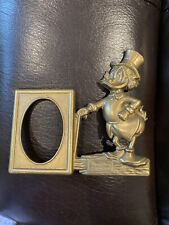 Scrooge McDuck Brass Office Set - Single Picture Frame - Walt Disney Productions