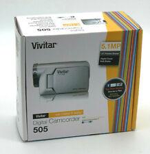 NIB Silver Vivitar 505 5.1 MP Digital Camcorder Digital Zoom Speaker Brand New