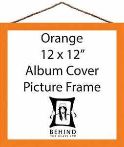 """Hanging Handmade Orange Picture/Photo Frame - 12x12"""" - Album Cover by Behind ..."""