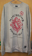MENS BIG SIZE SWEAT SHIRT/TOP  FOOTBALL HEAVEN  DESIGN COL GREY 3XL