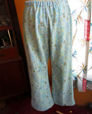 sz 12 28x27 True Vtg 70s WOMENS STETCH KNIT FLORAL PRINT BELLBOTTOM HIPPY JEANS