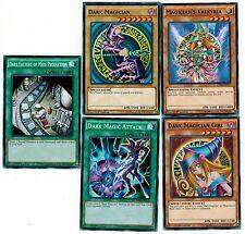 5 Spell Card SET Dark Magic Attack + Magician +  Girl + Valkyria 1st YUGIOH LDK2