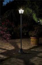 Victorian Solar Outdoor Lighting Bright Head Garden Path Lamp Post Lantern Light