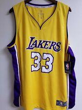 Kareem Abdul Jabbar Fanatics Yellow Lakers Jersey
