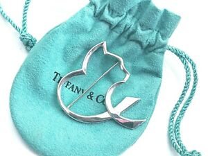 Tiffany & Co SILVER RARE Paloma Picasso Cat Brooch