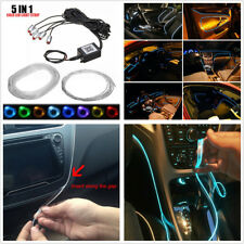 Sound Active Bluetooth Phone Control 5in1 6M RGB LED Car EL Neon Strip Light 12V