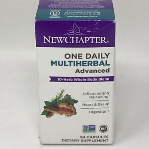New Chapter Energy Boost One Daily Multiherbal 84 Vegan Capsules **Exp 10/2022**