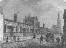 WESTMINSTER. Palmer's Almshouses, 1840. London c1880 old antique print picture