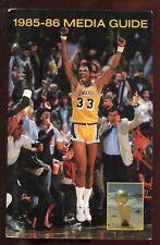 1985/1986 NBA Basketball Los Angles Lakers Media Guide EXMT
