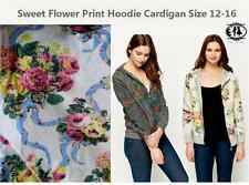 Zip Cotton Floral Jumpers & Cardigans for Women