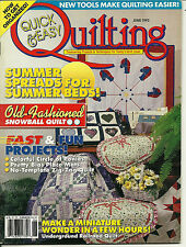 Quick & Easy Quilting Magazine June1993 V15 N2 Unquilted summer spreads c