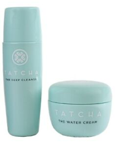 Tatcha The Water Cream 0.34oz & The Deep Cleanse 0.85oz Deluxe Travel Set+FREE🎁