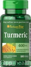 Puritan's Pride Turmeric 400mg 100 Capsules Antioxidant Brain Health MADE IN USA