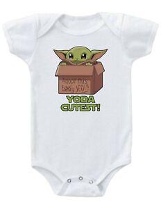 Mandalorian BABY YODA Baby Onesie Bodysuit Creeper Adorable unisex Baby Gift!