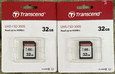 Transcend 32GB UHS-1 Class 10 SDHC Memory for Nikon, Selling 2
