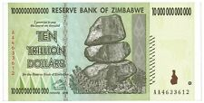 ZIMBABWE 10 Trillion Dollars Banknote World Money Currency Note Bill