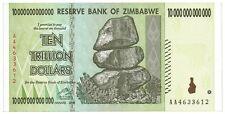 ZIMBABWE 10 Trillion Dollars Banknote World Money Currency Note Bill
