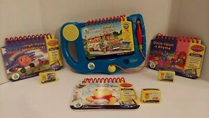LeapFrog My First LeapPad BLUE System LOT w BOOKS & CARTRIDGES - TESTED WORKS