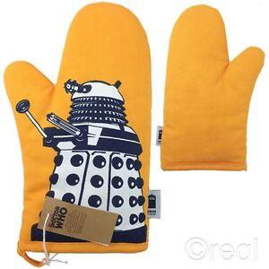 New Doctor Who Orange Dalek Oven Glove Mitt Pot Holder BBC Official