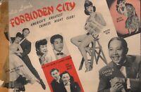 Vintage CHARLIE LOW'S FORBIDDEN CITY Post Card San Francisco 1945