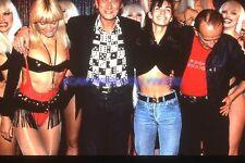 JOHNNY HALLYDAY 90s DIAPOSITIVE DE PRESSE ORIGINAL VINTAGE SLIDE #113